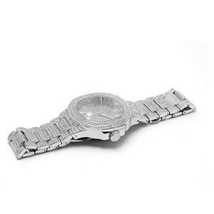 9656b863d9a06 Accessories - Iced Out Watch. Silver Bust Down AP Watch.